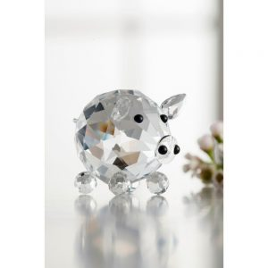 Galway Crystal Piglet 1.9 x 1.8 x 1.9 inches