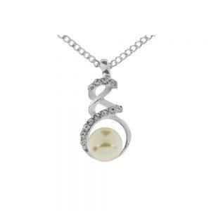 Pearl Interwoven Twist Necklace