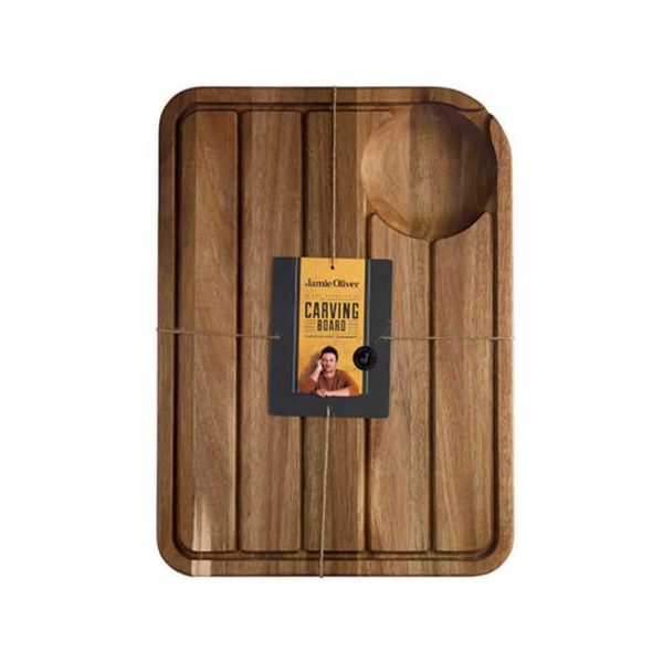 Jamie Oliver Carving Board with Jucie Well Acacia