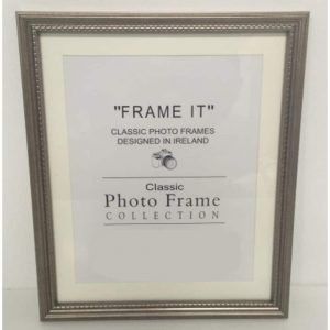 4x6 Grey Bead Photo Frame