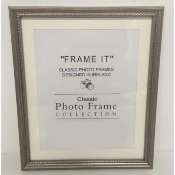 6x8 Grey Bead Photo Frame