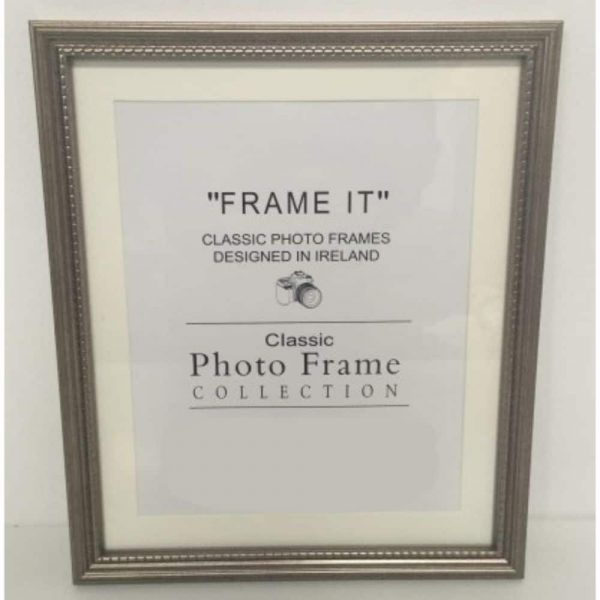 A4 Grey Bead Photo Frame