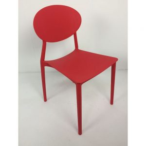 Round Back Red Chair