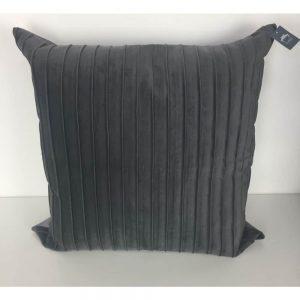 Dark Grey Ribbed Cushion Cover 44x44cm