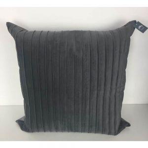Grey Ribbed Cushion Cover 56x56cm