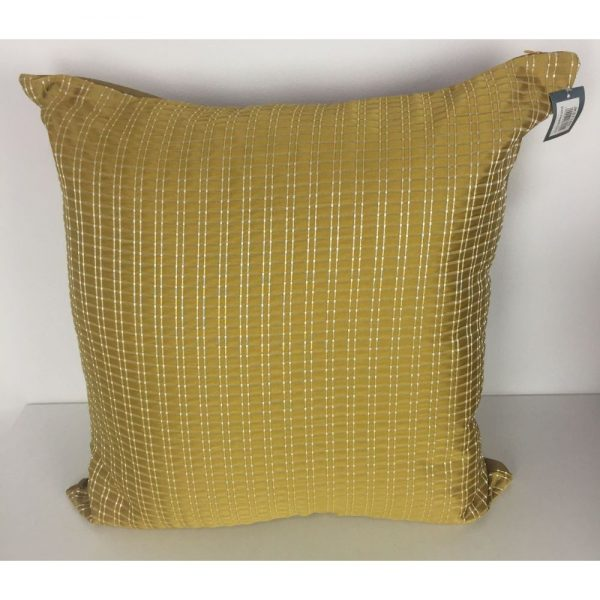 Yellow Check Cushion Covers 56x56cm