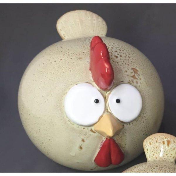 Funny Chicken Cream Large
