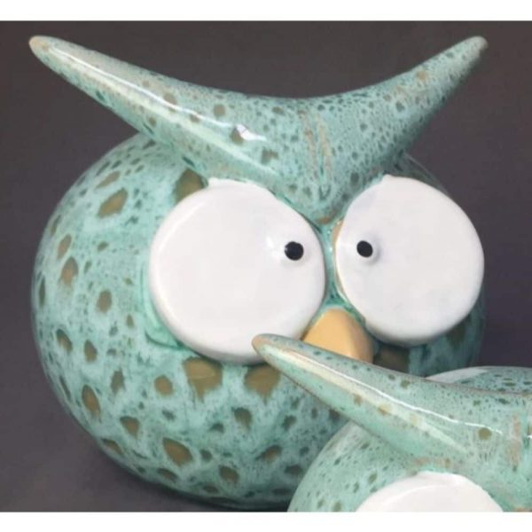 Funny Owl Teal Large