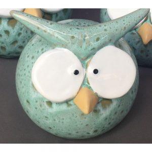 Funny Owl Teal Medium