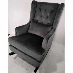 Velvet Plush Estelle Rocking Chair Grey