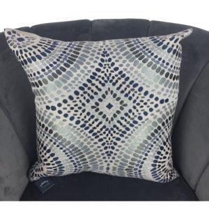 Grey White Blue Diamond Cushion Cover 44x44cm