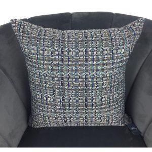 Grey Blue White Fleck Cushion Cover 44x44cm