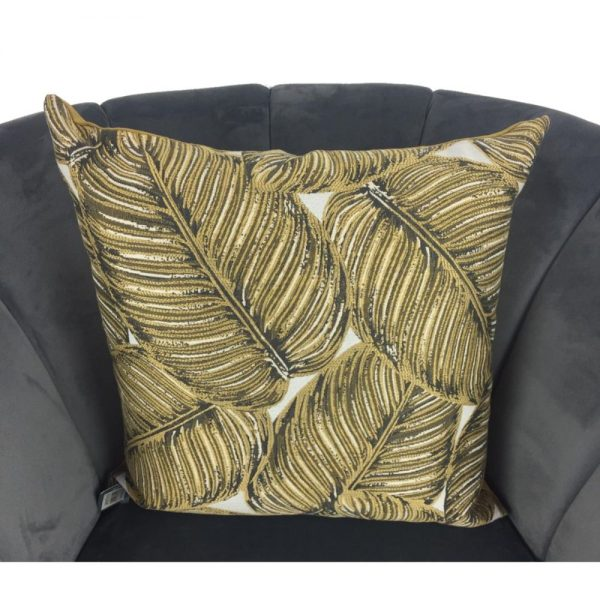 Green and Gold Fern Cushion Cover 44x44cm