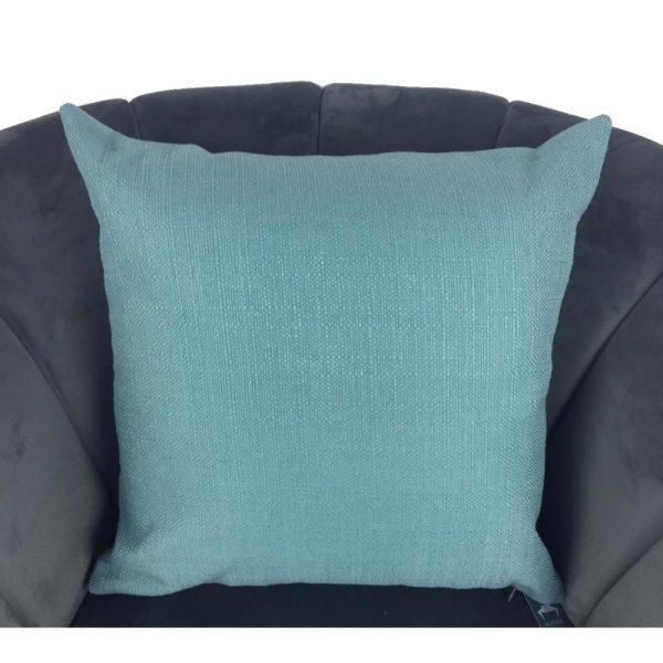 Teal Tweed Cushion Cover 44x44cm