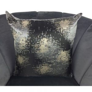 Cushion Cover Black with Grey and Gold 44x44cm