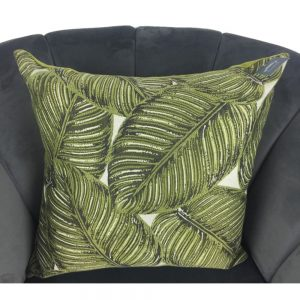 Green Fern Cushion Cover 44x44cm