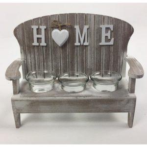 Home Chair 3 Tea Light Holder