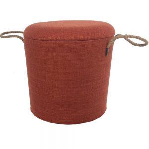Wooden Round Stools Terracotta Medium