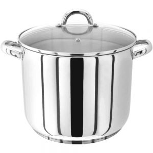 Judge Glass Lid Stainless Steel 28cm Stockpot 13L