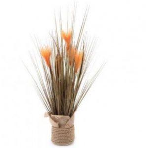 Jute Wrapped Grass Decoration H65cm