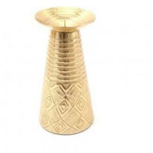 Kasbah Gold Colour Candle Holder H22cm