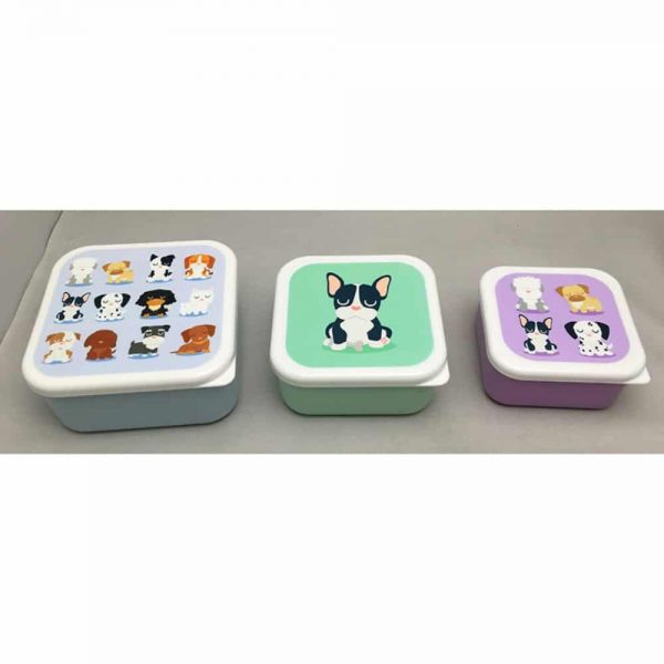 Set of 3 Lunch Boxes Dog Squad