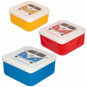 Set of 3 Lunch Boxes VW Campervan