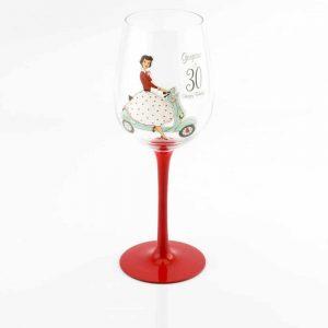 Mrs Smith 30th Birthday Wine Glass
