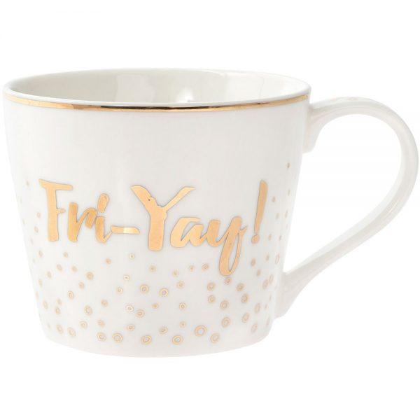 Gold Fri-Yay Mug
