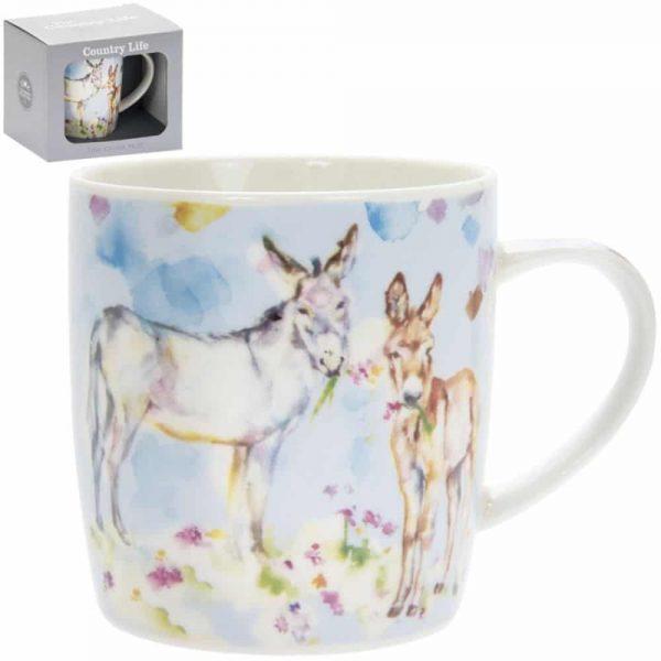Country Life Donkeys Mugs