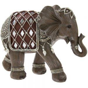 Brown Elephant Medium Height 16cm