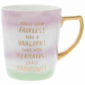 Fairy Mug Large Gold Handle