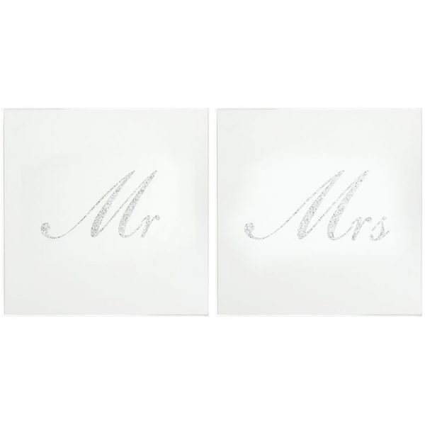 Silver Mr and Mrs Coasters