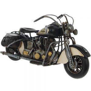Vintage Motorbike Black 36x15x19cm