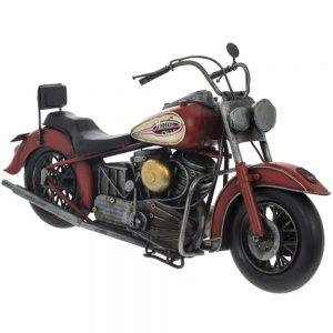 Vintage Motorbike Red 36x14x19cm