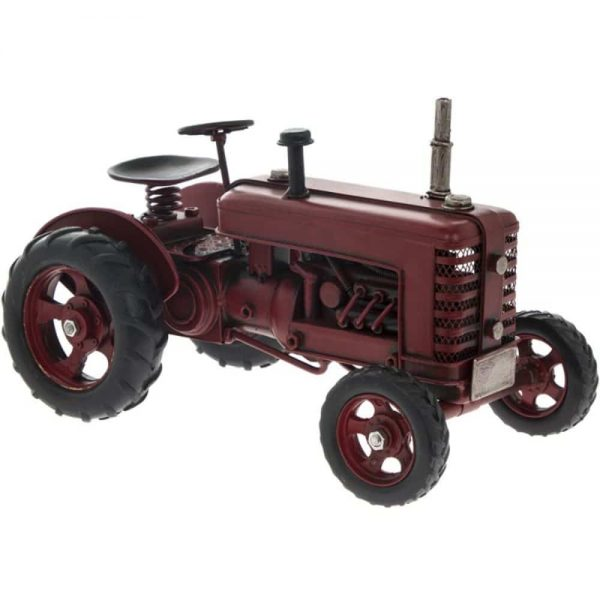 Vintage Tractor Red 27x15x17cm