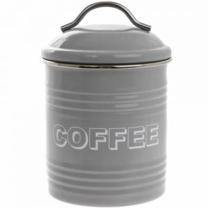 Home Sweet Home Grey Coffee Canister