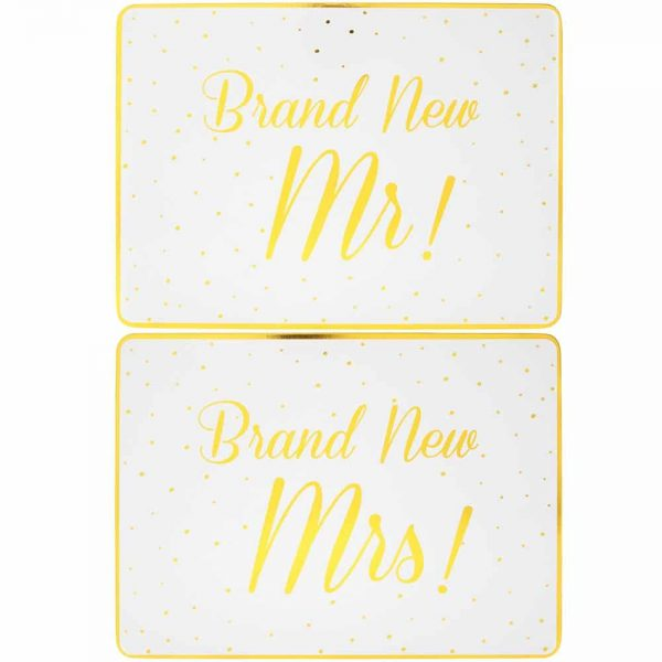 Brand New Mr and Mrs Placemats Set of 2