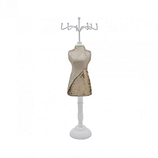 Sequin Mannequin Champagne Gold 58x14cm