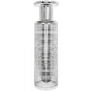 Vincenza Glass Vase Silver 51x16cm