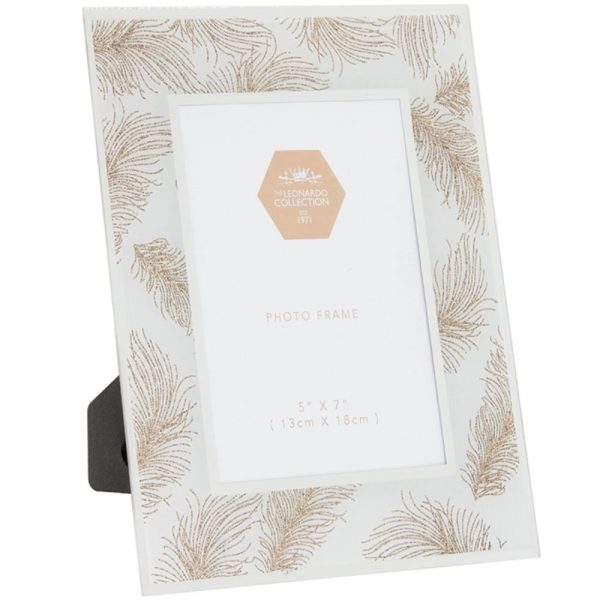 Rose Gold Feather Frame 5x7in