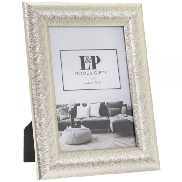 Silver Photo Frame 5x7in