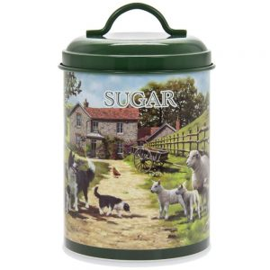 Collie and Sheep Sugar Canister