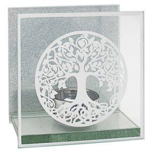 Mirror Tree of Life Tea Light Holder