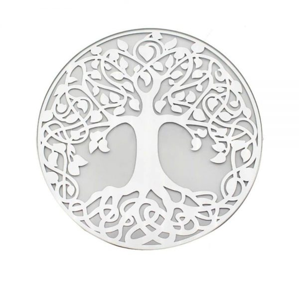 Mirror Tree of Life Candleplate 20cm