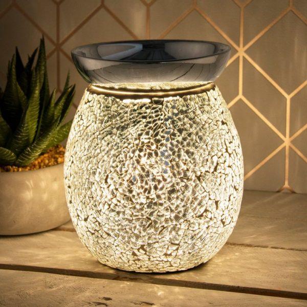 Desire Aroma Lamp Mosaic Silver