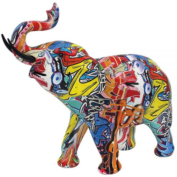 Graffiti Elephant Large 32x13x21cm