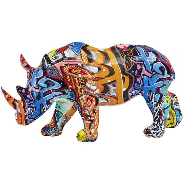 Graffiti Rhino 35x15x18cm