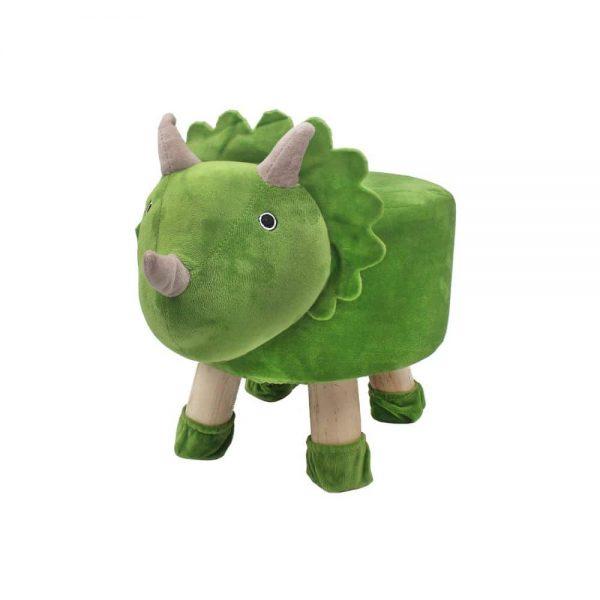 Green Dinosaur Stool 45x28cm