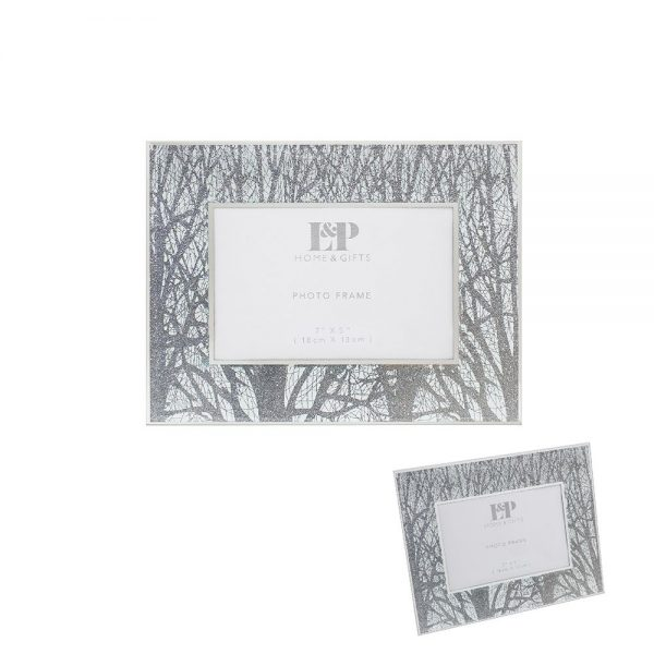 Silver Woodland Frame 7x5in